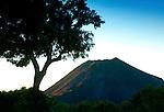 Volcano National Park or Cerro Verde in El Salvador overlooks the Izalco Volcano.