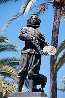 Denkmal von Diego de Velazquez  in Sevilla, Andalusien, Spanien