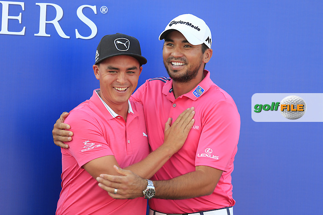 Jason Day (AUS) winner and Rickie Fowler (USA) after the final round of the Players, TPC Sawgrass, Championship Way, Ponte Vedra Beach, FL 32082, USA. 15/05/2016.<br /> Picture: Golffile | Fran Caffrey<br /> <br /> <br /> All photo usage must carry mandatory copyright credit (&copy; Golffile | Fran Caffrey)