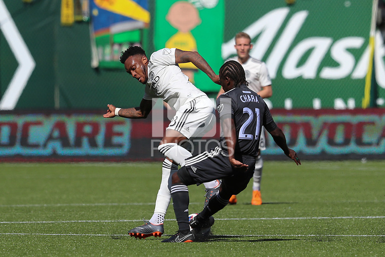 Portland, Oregon - Sunday, April 22, 2018: Portland Timbers vs New York City FC in a match at Providence Park.