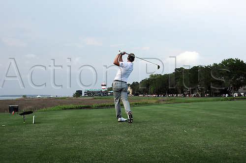 22 April 2011: Luke Donald during the second round of the Heritage Golf Tournament, at Harbour Town Golf Links in Hilton Head Island, South Carolina.