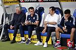 10.09.2017, Wirsol Rhein-Neckar-Arena, Sinsheim, GER, 1.FBL, TSG 1899 Hoffenheim vs FC Bayern M&uuml;nchen<br />  im Bild<br /> Trainer Carlo Ancelotti (M&uuml;nchen), Co-Trainer Willy Sagnol (M&uuml;nchen), Sportdirektor Hasan Salihamidzic (M&uuml;nchen), Davide Ancelotti<br /> Foto &copy; nordphoto / Bratic