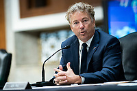United States Senator Rand Paul (Republican of Kentucky), speaks during a Senate Health, Education, Labor and Pensions Committee hearing in Washington, D.C., U.S., on Tuesday, June 30, 2020. Top federal health officials are expected to discuss efforts to get back to work and school during the coronavirus pandemic. <br /> Credit: Al Drago / Pool via CNP /MediaPunch