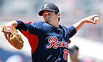 Tacoma Rainiers' Anthony Vasquez pitches against the Reno Aces in a minor league baseball game in Reno, Nev., on Wednesday, May 30, 2012. The Aces won 13-5..Photo by Cathleen Allison