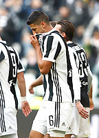 Calcio, Serie A: Juventus - Sassuolo, Torino, Allianz Stadium, 4 Febbraio 2018. <br /> Juventus' Sami Khedira celebrates after scoring his first goal in the match during the Italian Serie A football match between Juventus and Sassuolo at Torino's Allianz stadium, February 4, 2018.<br /> UPDATE IMAGES PRESS/Isabella Bonotto
