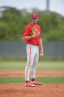 Philadelphia Phillies Zach Warren (33) during a Minor League Spring Training game against the Toronto Blue Jays on March 30, 2018 at Carpenter Complex in Clearwater, Florida.  (Mike Janes/Four Seam Images)