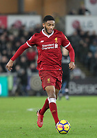 Joe Gomez of Liverpool during the Premier League match between Swansea City and Liverpool at the Liberty Stadium, Swansea, Wales on 22 January 2018. Photo by Mark Hawkins / PRiME Media Images.