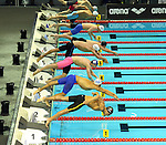 19.08.2014, Velodrom, Berlin, GER, Berlin, Schwimm-EM 2014, im Bild 200m Medley - Men, Bahn 4 - Markus Debiler, Start<br /> <br />               <br /> Foto &copy; nordphoto /  Engler