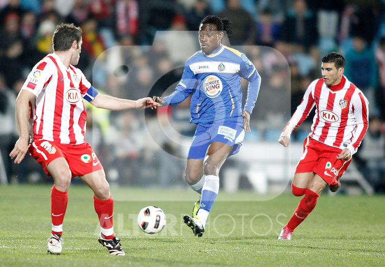 Getafe's Derek Boateng during La Liga Match. March 02, 2011. (ALTERPHOTOS/Alvaro Hernandez)