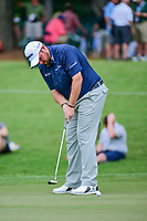Shane Lowry (IRL) watches his putt on 4 during Friday's round 2 of the PGA Championship at the Quail Hollow Club in Charlotte, North Carolina. 8/11/2017.<br /> Picture: Golffile | Ken Murray<br /> <br /> <br /> All photo usage must carry mandatory copyright credit (&copy; Golffile | Ken Murray)