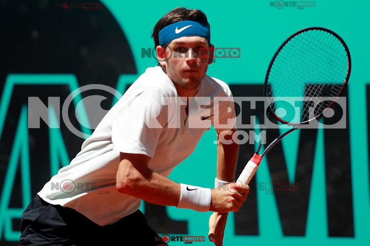 Jared Donaldson, USA, during Madrid Open Tennis 2018 match. May 8, 2018.(ALTERPHOTOS/Acero) /NortePhoto.com