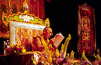 THE 14TH DALAI LAMA of TIBET speaks during his ILLUMINATING THE PATH teachings in  June of 2000 - LOS ANGELES, CALIFORNIA