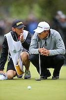 February 22, 2015: James Hahn and his caddy Mark Urbanek during the final round of the Northern Trust Open. Played at Riviera Country Club, Pacific Palisades, CA.