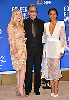 LOS ANGELES, USA. December 09, 2019: Dakota Fanning, Tim Allen & Susan Kelechi Watson at the nominations announcement for the 77th Golden Globe Awards at the Beverly Hilton Hotel.<br /> Picture: Paul Smith/Featureflash