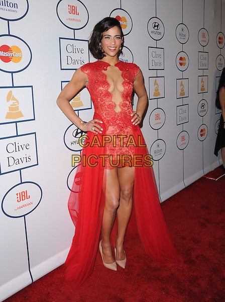 Paula Patton attends Pre-GRAMMY Gala &amp; Salute to Industry Icons with Clive Davis Honoring Lucian Grainge held at The Beverly Hilton Hotel in Beverly Hills, California on January 25,2014                                                                                <br /> CAP/DVS<br /> &copy;Debbie VanStory/Capital Pictures