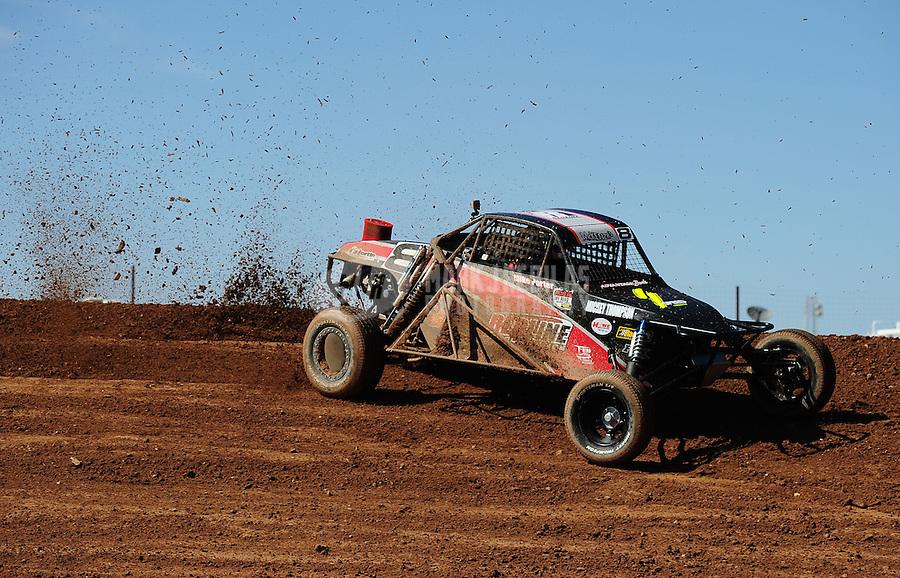 Apr 16, 2011; Surprise, AZ USA; LOORRS driver Mike Porter (8) during round 3 at Speedworld Off Road Park. Mandatory Credit: Mark J. Rebilas-
