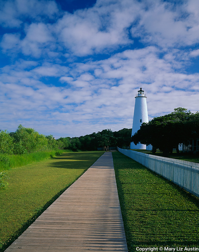Cape Hatteras National Seashore, NC<br /> Ocracoke Island Lighthouse (1823) located on Ocracoke Island