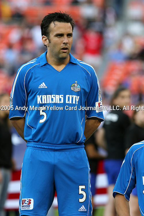 21 May 2005: Kerry Zavagnin. DC United defeated the Kansas City Wizards 3-2 at RFK Stadium in Washington, DC in a regular season Major League Soccer game. . .