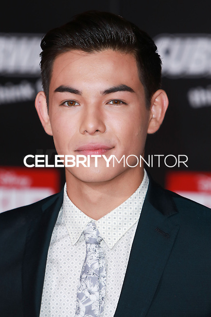 HOLLYWOOD, LOS ANGELES, CA, USA - NOVEMBER 04: Ryan Potter arrives at the Los Angeles Premiere Of Disney's 'Big Hero 6' held at the El Capitan Theatre on November 4, 2014 in Hollywood, Los Angeles, California, United States. (Photo by David Acosta/Celebrity Monitor)