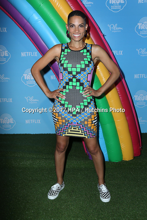 LOS ANGELES - AUG 10:  Goapele at the True and the Rainbow Kingdom Series LA Premiere at the Pacific Theater At The Grove on August 10, 2017 in Los Angeles, CA