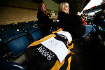 Wasps fans with signs saying 'RIP' before the first match after the club announced that it will be leaving Adam's Park and moving to Coventry - Rugby Union - 2014 / 2015 Aviva Premiership - Wasps vs. Bath - Adams Park Stadium - London - 11/10/2014 - Pic Charlie Forgham-Bailey/Sportimage