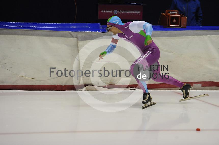 SCHAATSEN: HEERENVEEN: 25-10-2014, IJsstadion Thialf, Trainingswedstrijd schaatsen, Jesper Hospes, ©foto Martin de Jong