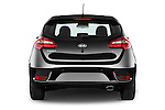 Straight rear view of 2016 KIA Ceed Sense 5 Door Hatchback Rear View  stock images