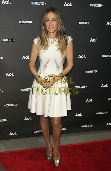 NEW YORK, NY - APRIL 29: Sarah Jessica Parker at the 2014 AOL NewFront at the Duggal Greenhouse on April 29, 2014 in the Brooklyn borough of New York City. <br /> CAP/MPI/RW<br /> &copy;RW/MPI/Capital Pictures