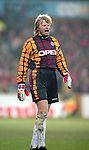 Oliver Kahn of Bayern Munich - UEFA Cup - quarter final 2nd leg - Nottingham Forest v Bayern Munich - City Ground - Nottingham - England - 19th March 1996 - Picture Simon Bellis/Sportimage