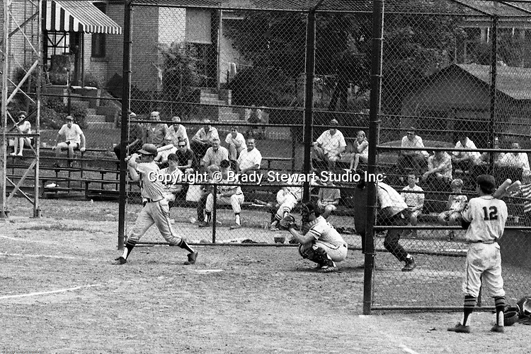 American Legion Baseball:  Bethel Park vs Arnold to advance to the state American Legion Playoffs.  Paul Hauck swinging and hitting during the game.  Bob Purkey pitched a shut out (1-0) and the team advance to the state playoffs in Allentown PA - 1970. Others in the photo; Lee Patch, Bob Colligan and Patrick Stewart