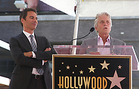 LOS ANGELES, CA - SEPTEMBER 13: Eric McCormack, Michael Douglas at the Hollywood Walk Of Fame Ceremony honoring Eric McCormack in Los Angeles, California on September 13, 2018. <br /> CAP/ADM/FS<br /> &copy;FS/ADM/Capital Pictures