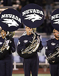 Members of the Nevada Marching Band tuba section perform before the start of the Nevada football game Saturday night, Oct. 30, 2010 in Reno, Nev.<br /> Photo by Cathleen Allison