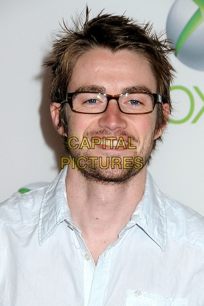 "ROBERT BUCKLEY .Xbox 360's ""Project Natal"" Premiere Party held at USC's Galen Center, Los Angeles, California, USA..June 13th, 2010.headshot portrait blue beard facial hair glasses .CAP/ADM/BP.©Byron Purvis/AdMedia/Capital Pictures."