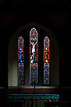 Stained glass window in church of Saint Mary, Maddington, Wiltshire, England, UK c 1871 Lavers, Barraud & Westlake