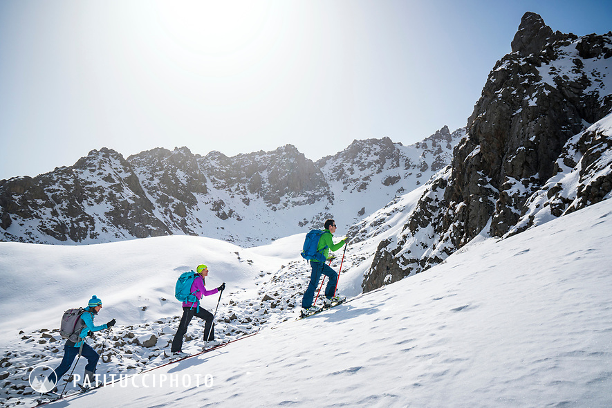 Ski touring in the Aksuu Valley, Kyrgyzstan