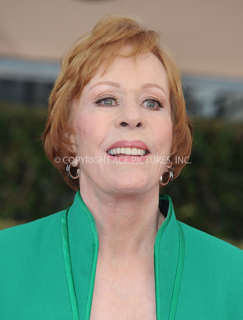 WWW.ACEPIXS.COM<br /> <br /> January 30 2016, LA<br /> <br /> Carol Burrnet arriving at the 22nd Annual Screen Actors Guild Awards at the Shrine Auditorium on January 30, 2016 in Los Angeles, California<br /> <br /> By Line: Peter West/ACE Pictures<br /> <br /> <br /> ACE Pictures, Inc.<br /> tel: 646 769 0430<br /> Email: info@acepixs.com<br /> www.acepixs.com