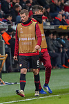 29.11.2018, BayArena, Leverkusen, Europaleque, Vorrunde, GER, UEFA EL, Bayer 04 Leverkusen (GER) vs. Ludogorez Rasgrad (BUL),<br />  <br /> DFL regulations prohibit any use of photographs as image sequences and/or quasi-video<br /> <br /> im Bild / picture shows: <br /> beim Aufwaermen, Einzelaktion,  Lars Bender (Leverkusen #8), Kai Havertz (Leverkusen #29),  <br /> <br /> Foto &copy; nordphoto / Meuter<br /> <br /> <br /> <br /> Foto &copy; nordphoto / Meuter