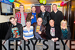 Gerard O Brien from Johns Park Tralee Who was enjoying his surprise 50th birthday with Family at the Greyhound Bar on Saturday. Pictured front l-r  Anthony O Brien, Christina O Brien, Gerard O Brien, Geraldine O Brien and Fidelma O Brien.Back L-R Joe O Brien, Garreth Bussel, Paul Mullen and Chris Hanafin.