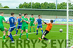 Goal<br /> -------<br /> Kerry under 17, James Rusk, far Left, beats Limerick goalkeeper Michael Gearrihy, from a corner kick, to make it 1-1 on the 22nd minute of their game at Mounthawk Park, Tralee last Sunday afternoon. Kerry went on to win 5-1.