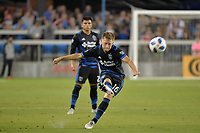 San Jose, CA - Saturday August 18, 2018: Chris Wehan during a Major League Soccer (MLS) match between the San Jose Earthquakes and Toronto FC at Avaya Stadium.