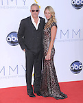 Kevin Costner and Christine Baumgartner at The 64th Anual Primetime Emmy Awards held at Nokia Theatre L.A. Live in Los Angeles, California on September  23,2012                                                                   Copyright 2012 Hollywood Press Agency
