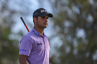 Shubhankar Sharma (IND) watches his tee shot on 12 during round 1 of the World Golf Championships, Dell Match Play, Austin Country Club, Austin, Texas. 3/21/2018.<br /> Picture: Golffile | Ken Murray<br /> <br /> <br /> All photo usage must carry mandatory copyright credit (&copy; Golffile | Ken Murray)
