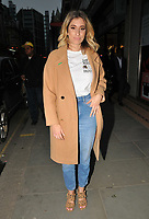 Stacey Solomon at the Fashion Re-told pop-up shop launch party, Fashion Re-told, Sloane Street, London, England, UK, on Thursday 12 April 2018.<br /> CAP/CAN<br /> &copy;CAN/Capital Pictures