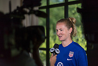 Paris, FRA - June 26, 2019:  The USWNT held a press conference before their quarterfinal match in the FIFA Women's World Cup.