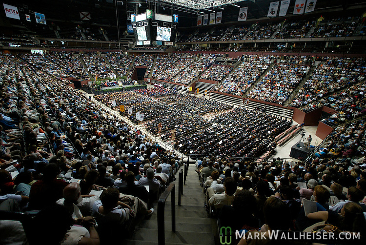 Florida State University graduation ceremonies at the Tallahassee-Leon County Civic Center in Tallahassee, Florida.   (Mark Wallheiser/TallahasseeStock.com)