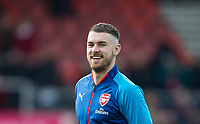 Aaron Ramsey of Arsenal warms up ahead of the Premier League match between Bournemouth and Arsenal at the Goldsands Stadium, Bournemouth, England on 14 January 2018. Photo by Andy Rowland.