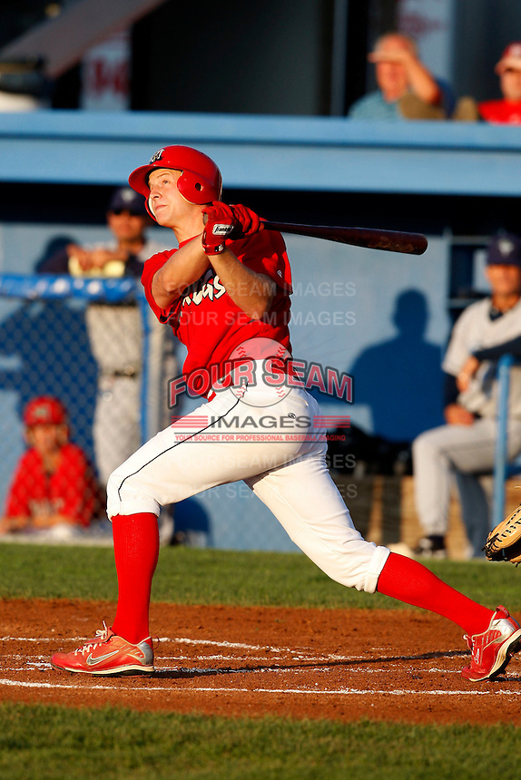 August 12, 2009:  Outfielder Kyle Conley of the Batavia Muckdogs during a game at Dwyer Stadium in Batavia, NY.  The Muckdogs are the Short-Season Class-A affiliate of the St. Louis Cardinals.  Photo By Mike Janes/Four Seam Images