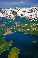 Aerial view, Prince William Sound, near Valdez, Alaska USA