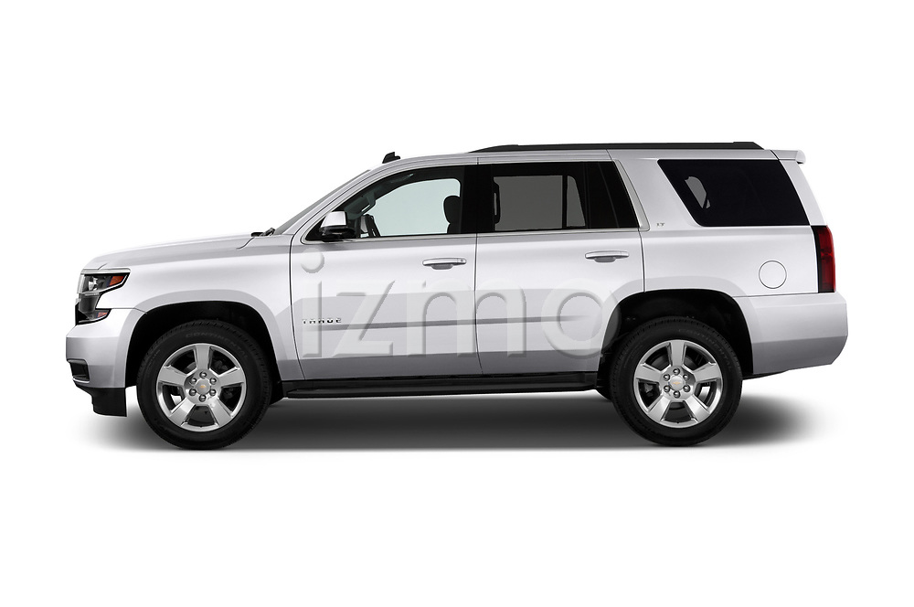 Driver side profile view of a 2015 Chevrolet Tahoe 2WD LT 5 Door SUV