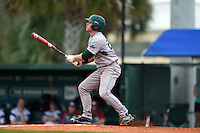 Slippery Rock Adam Urbania (20) hits a home run during a game against the University of the Sciences Devils on March 6, 2015 at Jack Russell Field in Clearwater, Florida.  Slippery Rock defeated University of the Sciences 6-3.  (Mike Janes/Four Seam Images)